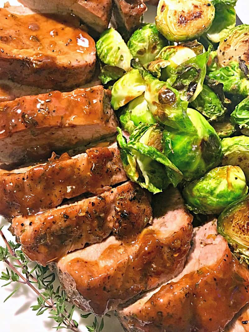 Apricot Glazed Pork Tenderloin ~ 30 minute tender, juicy glazed pork. Simple instructions, ideal for weeknights; elevated enough to entertain with.