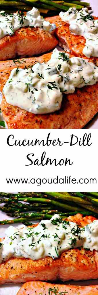 One-Pan Cucumber Dill Salmon. You won't believe how much flavor this salmon has with so few ingredients and how quickly it goes from stove to table!