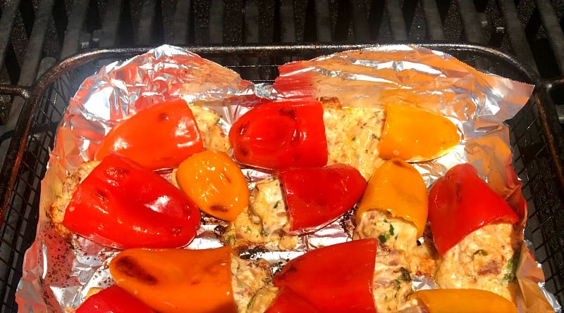 fiesta peppers on the grill