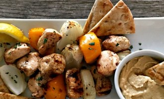 marinated rosemary chicken kabobs