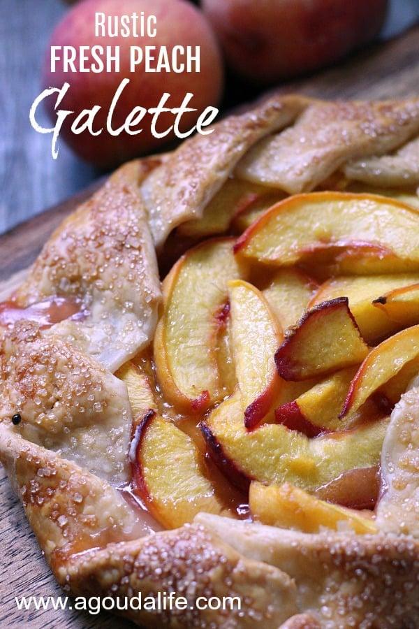 peach galette recipe pin for pinterest