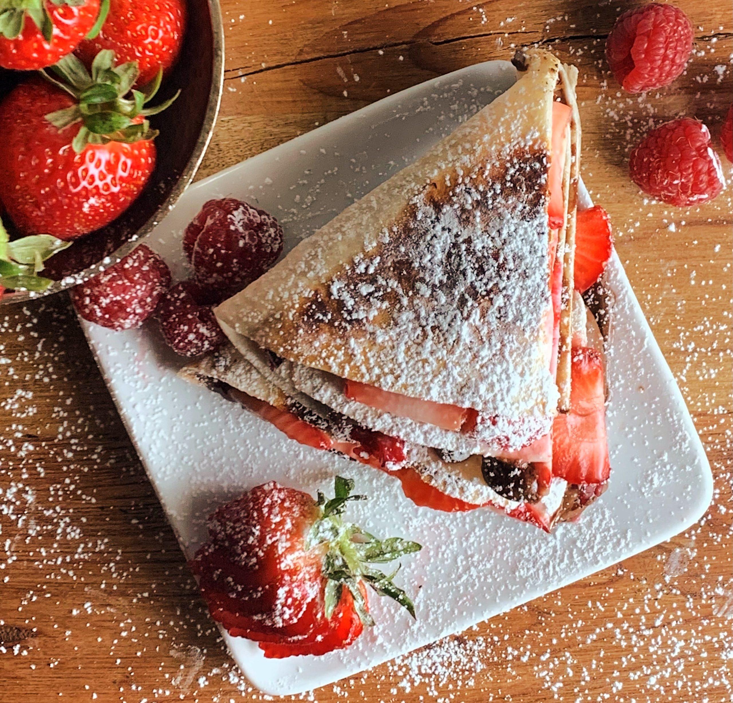 strawberry-nutella viral tortilla hack