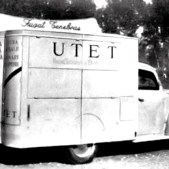 Auto pubblicitaria per la casa editrice Utet