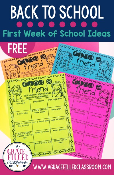 FREE Back to school ideas and activities. Get to know your students and community building activity!