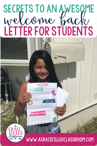 Secrets to an awesome welcome back letter for students. Write a welcome back letter to your students as you head back to school this fall!
