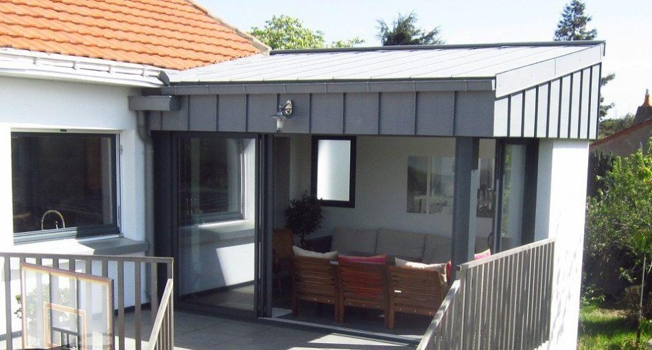 zoom sur l extension maison acier