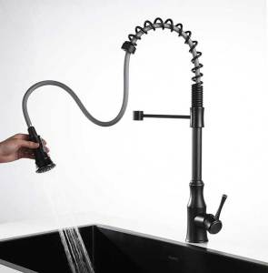 AguaStella-AS83ORB-Oil-Rubbed-Bronze-Spring-Kitchen-Faucet-with-Pull-Down-Sprayer-Single-Handle-High-Arc-Sink-Fauce