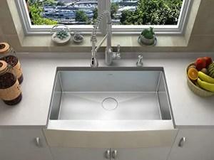 ZUHNE Prato 33 Inch Single Bowl Farm House 16G Stainless Steel Kitchen Sink