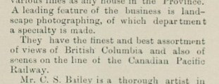 Charles and William Bailey form Bailey Bros. in Vancouver