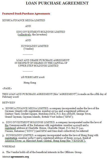 Aztec Financial Purchase Contract