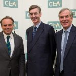 (L-R Neil Parish, Jacob Rees-Mogg and Tim Breitmeyer)