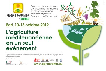 Salon du machinisme AGRILEVANTE: du 10 au 13 octobre 2019, Bari (Italie)