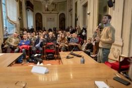 Tommaso Gaifami durante il suo intervento al workshop