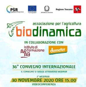 Convegno Biodinamica 2° appuntamento 30 Novembre 2020