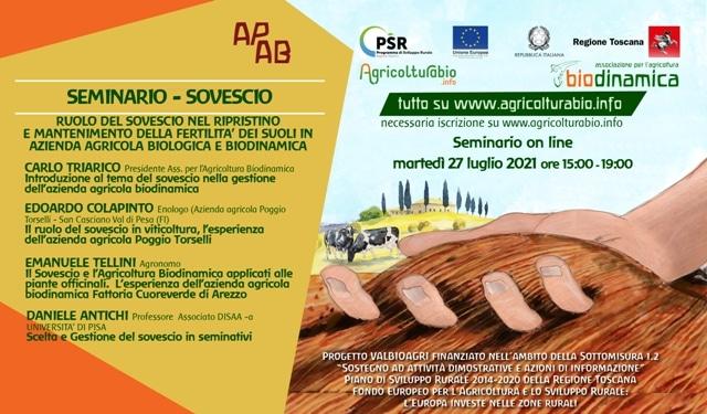 Settimane tematiche, martedì 27 luglio seminario on-line sul sovescio