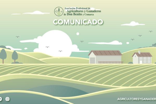 Comunicado Agricultores y ganaderos