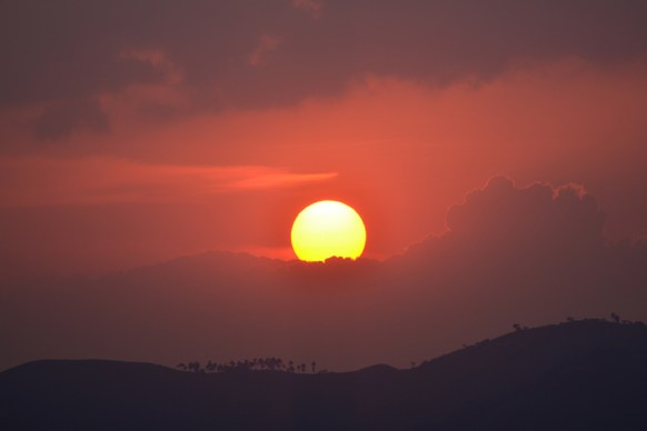 Sunset in the Rwenzori foothills
