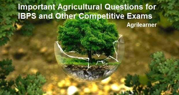 Important Agricultural Questions