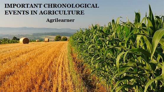CHRONOLOGICAL EVENTS IN AGRICULTURE