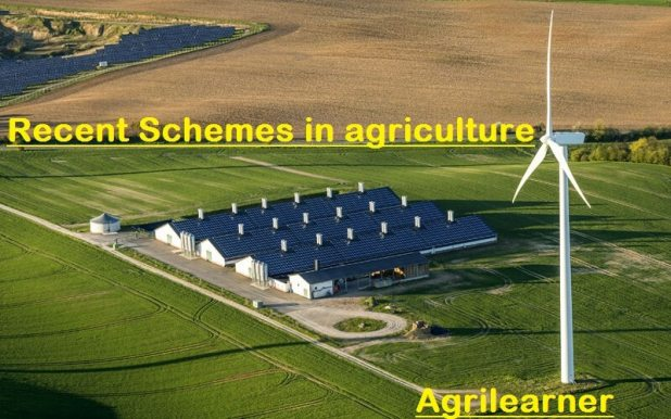 Recent Schemes in agriculture