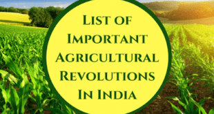 Agriculture Revolutions