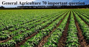 General Agriculture important question
