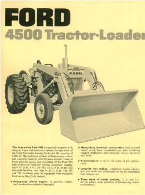 Ford Tractor  Loader 4500 Brochure