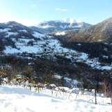 Vista Al-Marnich - Vigneto e Montagne Innevate