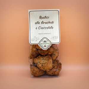 biscotti integrali rustici arachidi e cioccolato