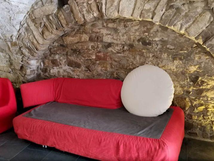 Il divano letto dell'appartmento l'Angolo Di Papà Gigi