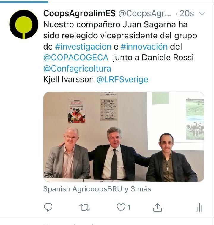 Elezione COPA-COGECA Rossi Agronetwork Sagarna Ilvarsson