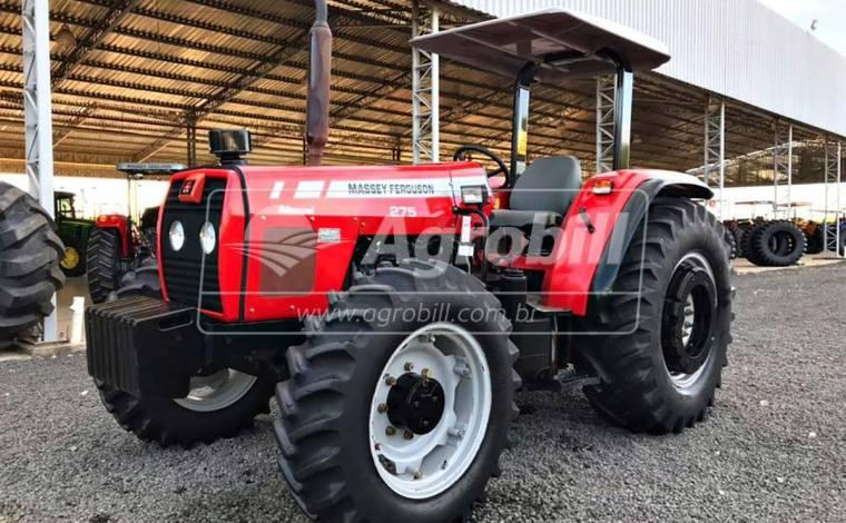 Trator Massey 275 4×4 ANO 2007/2008 com 1884 horas com Redutor de velocidade (Creeper) - Tratores - Massey Ferguson - Agrobill - Tratores, Implementos Agrícolas, Pneus