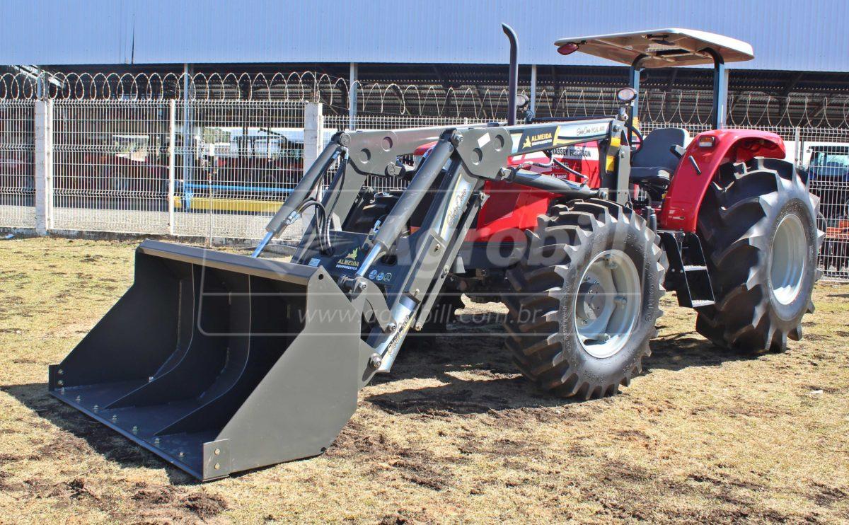 Trator Massey 4275 4×4 ano 2018 com 8 Horas + Conjunto de Concha Novo - Tratores - Massey Ferguson - Agrobill - Tratores, Implementos Agrícolas, Pneus