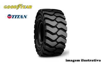 Pneu 23.5×25 / 16 Lonas – Goodyear/Titan > Novo - 23.5x25 - Goodyear - Agrobill - Tratores, Implementos Agrícolas, Pneus