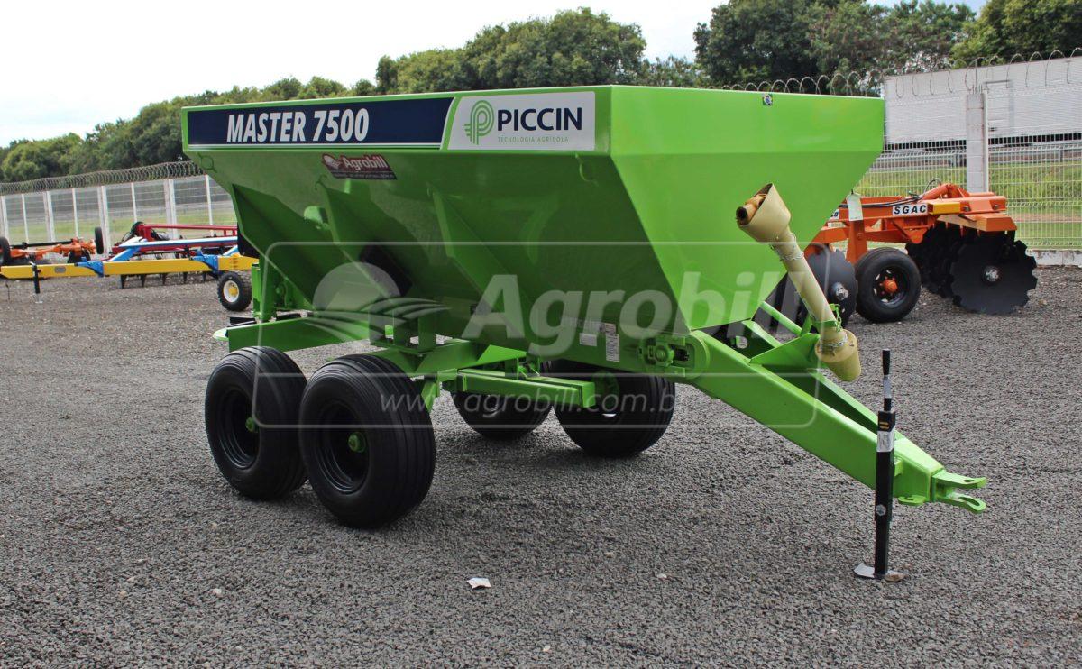 Distribuidor de Calcário e Fertilizantes Master 7500 / Esteira Precisa – Piccin > Novo - Distribuidor de Calcário - Piccin - Agrobill - Tratores, Implementos Agrícolas, Pneus