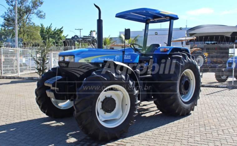 Trator New Holland 7630 4×4 ano 2014 com 1575 horas - Tratores - New Holland - Agrobill - Tratores, Implementos Agrícolas, Pneus