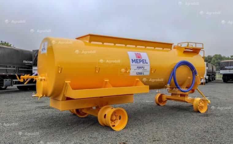 Carreta Tanque Abastecedor Pulverizador ABAPU 12500L / 2 Eixos Simples + Duplo / Sem Pneus – Mepel > Novo - Tanque de Água - Mepel - Agrobill - Tratores, Implementos Agrícolas, Pneus