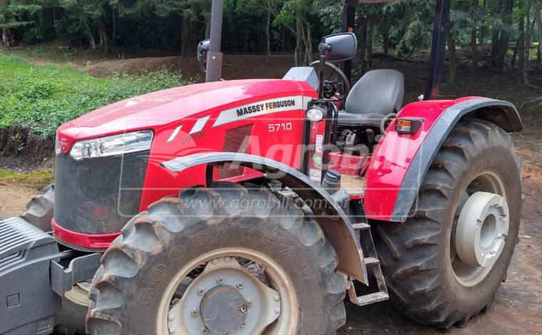 Trator MF 5710 4×4 ano 2020 c/ apenas 116 horas Seminovo - Tratores - Massey Ferguson - Agrobill - Tratores, Implementos Agrícolas, Pneus