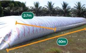 Silo bolsa para Grãos / Silobag / Lona de 9 pés com 60 metros de comprimento  – IpesaSilo > Novo - Lonas - IpesaSilo - Agrobill - Tratores, Implementos Agrícolas, Pneus