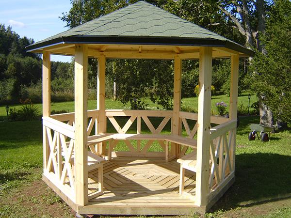 Kiosque De Jardin Agrobois Saunas Cuisson Exterieure