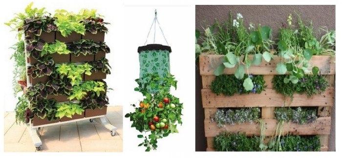 Recipientes de cultivo para el huerto urbano vertical
