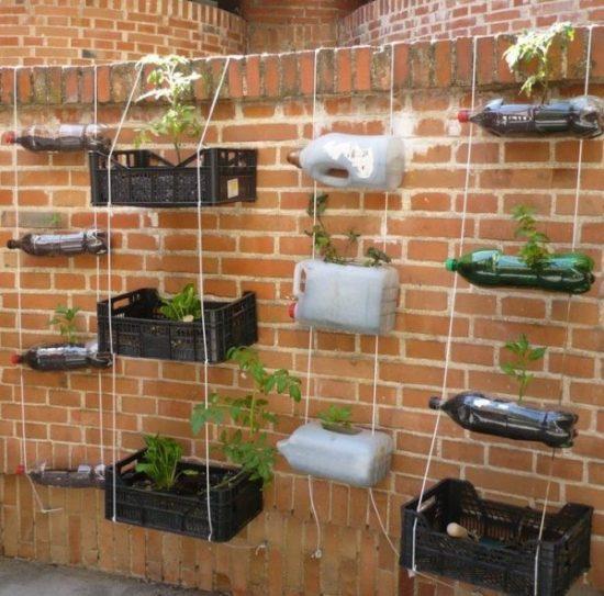 hacer un huerto casero con materiales reciclados