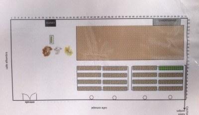 Aquí vemos el plano del nuevo huerto urbano de Lucero.