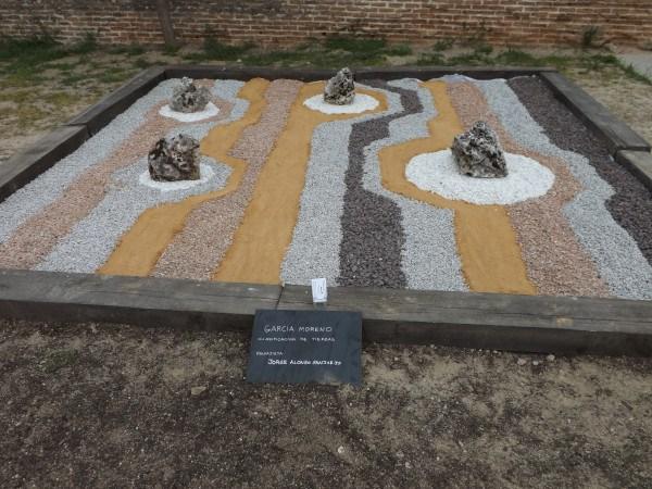 Jardín zen por parte de García Moreno Clasificación de tierras. Obra del paisajista Jorge Alonso Sanjurjo