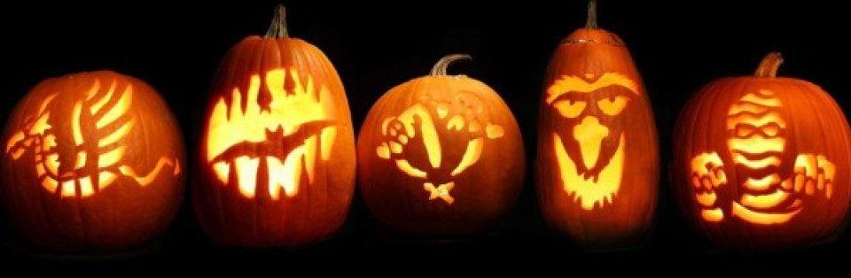Aquí tenéis varios diseños de calabaza de Halloween o Jack-O'-lantern (Fuente:www.history.com)