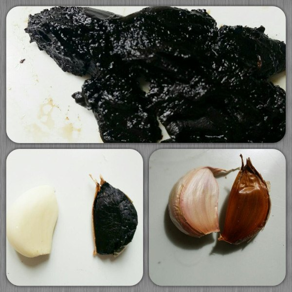 Comparación de ajo negro y ajo normal