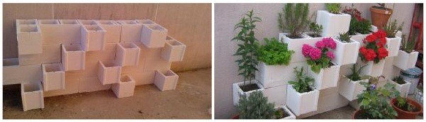 recipientes de cultivo reciclados