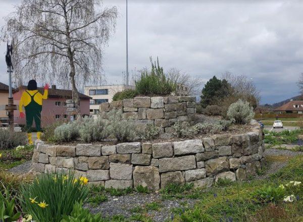 Huerto en espiral en Suiza