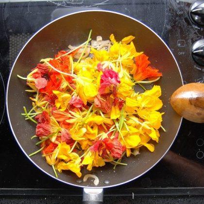 cómo usar flores para cocinar