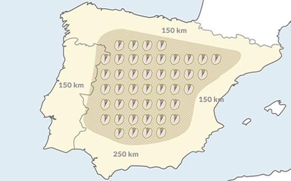 Zonas adecuadas para cultivar pistacho en España